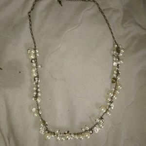 Chloe & Isabel signed pearl & crystal necklace